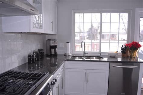 steel gray granite contemporary kitchen