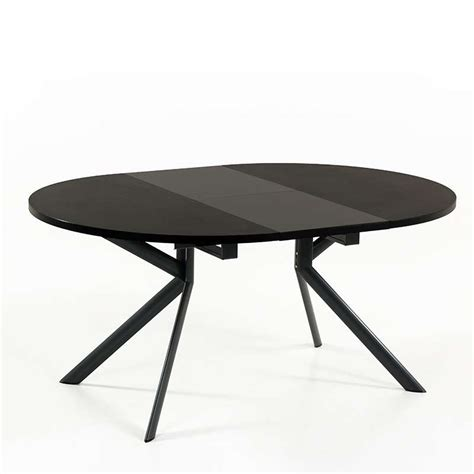 stunning fabulous table ronde en cramique noire extensible