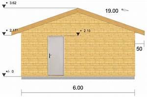 plan garage ossature bois pour un garage deux places With plan de garage en bois