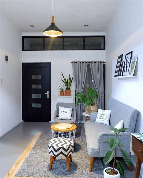 desain ruang tamu minimalis pemberian cat berwarna putih