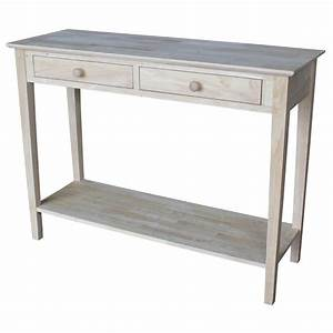 international concepts spencer unfinished storage console With home depot international concepts furniture