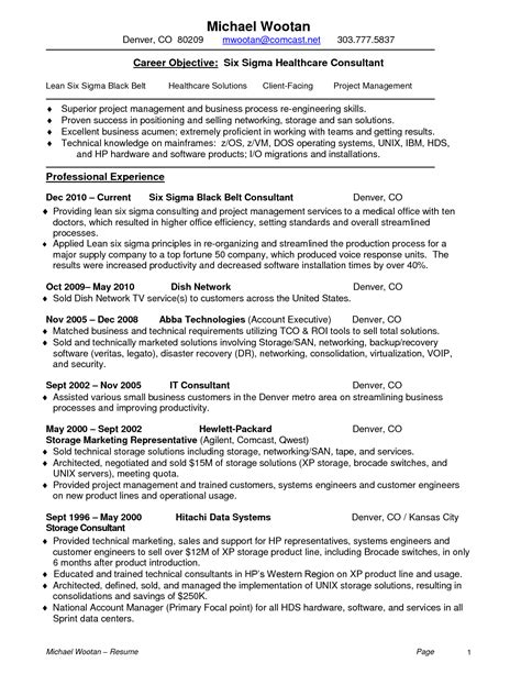 formidable lean six sigma resume sle for your
