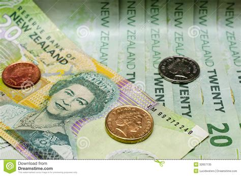 currency exchange nz new zealand currency dollar notes and coins money stock