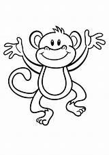 Coloring Monkeys Printable Easy Activity Printablecolouringpages Via sketch template