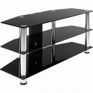 Fernsehtisch Schwarz Glas : stilista tv rack tisch fernsehtisch hifi m bel schwarz glas schwarzglas ~ Indierocktalk.com Haus und Dekorationen