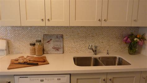 cream backsplash with white cabinets cream quartz countertops design ideas