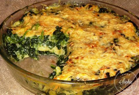 cuisiner sans sucre gratin de gnocchis aux épinards la tendresse en cuisine