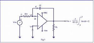 Integrator Circuit Using Opamp  Opamp Integrator Design  Derivation For Output Voltage  Waveforms