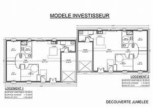 modeles et plans de maisons gt modele de plain pied With plan maison jumelee gratuit