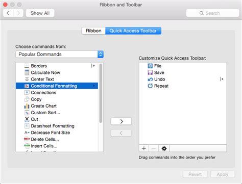 customize  ribbon  toolbars  office  mac