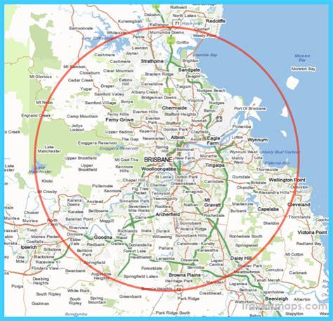 map  brisbane travelsmapscom