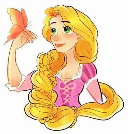 Rapunzel Disney Princess Butterfly Fan Tangled Dibujos