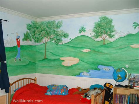 sports wall murals examples  sports murals