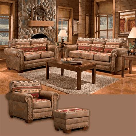 lodge style sofas living room furniture cabin place thesofa