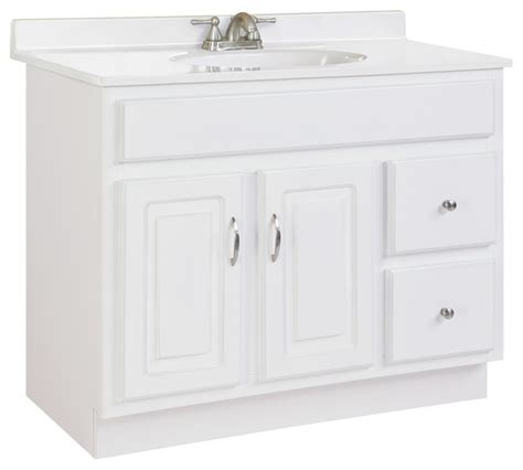 36 Bath Vanity Without Top by Concord Single Vanity Without Top White Gloss Finish 36