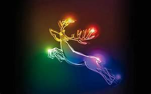 Weihnachten In Hd : hintergrund mit neonlicht rentier hd hintergrundbilder ~ Eleganceandgraceweddings.com Haus und Dekorationen