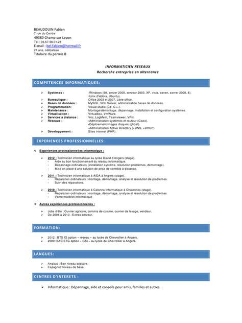 licence pro cuisine cv licence pro pdf par faboune fichier pdf