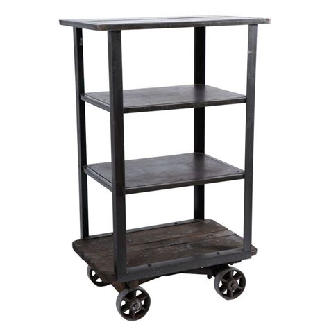 industrial rolling shelf cart