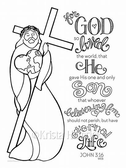 Coloring God Pages Loved Bible 5x11 Journaling
