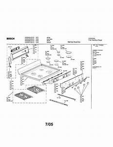 Bosch Free Standing Range Parts
