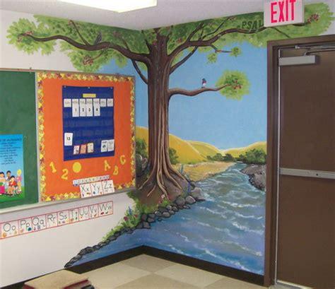 tree wallpaper stickers murals decoration  kindergarten