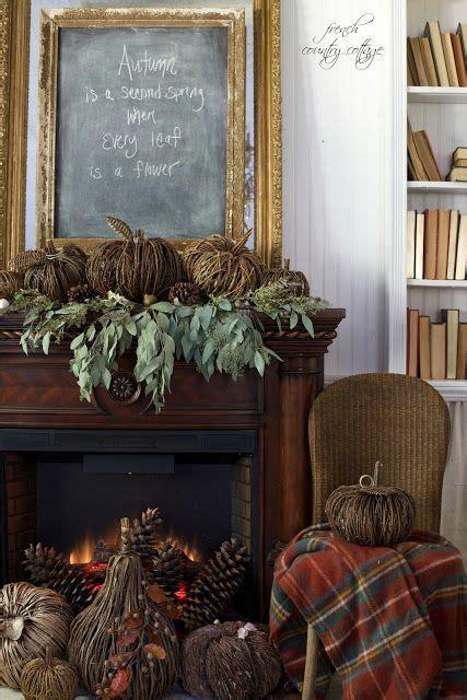natural autumn mantel   cottage