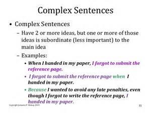 complex sentence examples alisen berde