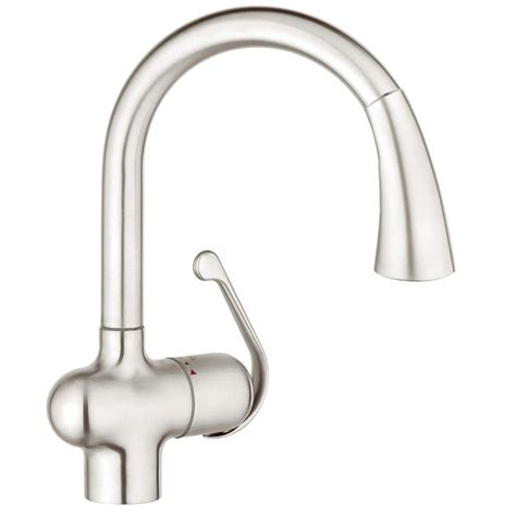 single handle pull out kitchen faucet grohe stainless steel pull faucet pull