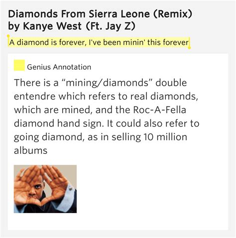 A Diamond Is Forever Ive Diamonds From Sierra Leone