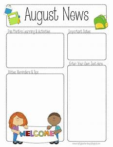 the crafty teacher august printable newsletter for all With printed newsletter templates