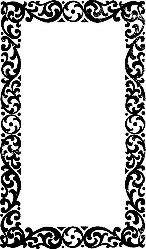 beautiful borders  frames  projects black  white   clip art