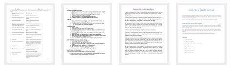 script outline template  examples  word  format