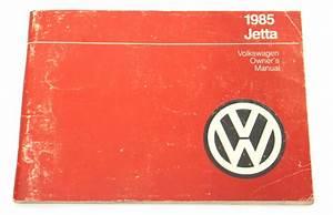1985 Volkswagen Vw Jetta Owners Manual Book Mk2