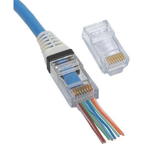 Rj45 Modular Wiring by Platinum Tools Ez Rj45 Cat 6 Connector 50 Pcs
