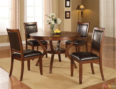 5 dining room sets nelms walnut finish casual 5 dining room set