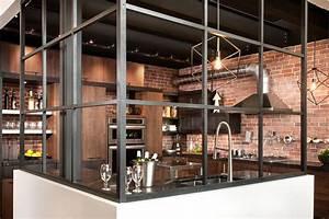Salle De Bain Style Industriel : cuisine style design industriel id al pour loft ou grande ~ Dailycaller-alerts.com Idées de Décoration