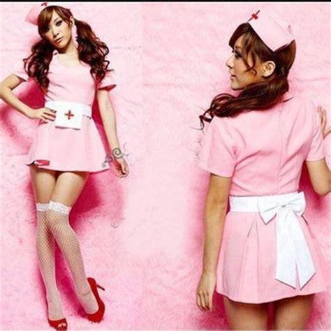 pink nurse suit set sexy costume anime cosplay costume