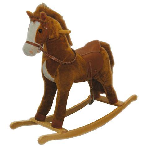 siege balancoire bebe cheval à bascule bois sons ami plush king jouet