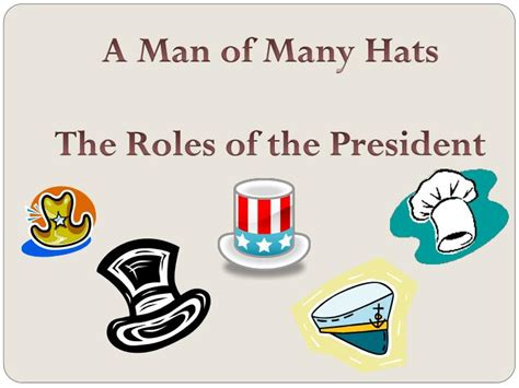 Ppt  A Man Of Many Hats The Roles Of The President Powerpoint Presentation Id2624578