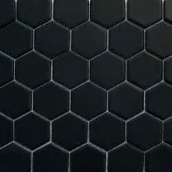 Marble Hexagon Floor Tile Uk glazed hexagons matte black hexagon mosaic traditional
