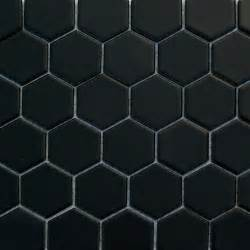 glazed hexagons matte black hexagon mosaic traditional wall and floor tile by buytile
