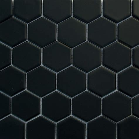 hexagon floor tile glazed hexagons matte black hexagon mosaic traditional wall and floor tile by buytile