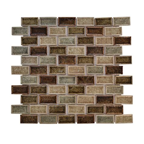 Jeffrey Court Mosaic Tile by Jeffrey Court 12 In X 12 In Mineral Crackle Glass