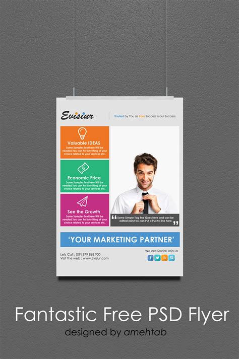 flyer templates psd css author