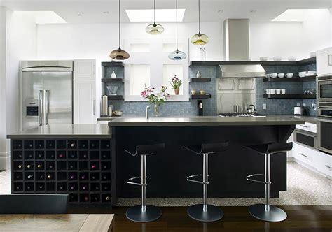 modern kitchen island remodelista june 2009 terra and pendants on the