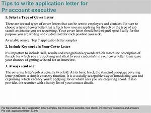 pr account executive application letter With ict officer cover letter