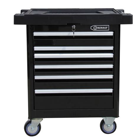 tool cabinets on wheels shop kobalt 36 5 in x 33 4 in 6 drawer ball bearing steel