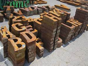 18quot metal letters 2 sided boxed metal letters words With rusty metal letters wholesale