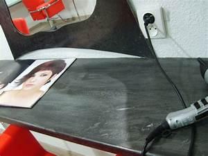 Plan De Travail En Zinc : salon de coiffure miroirs et plan de travail le dire c 39 est bien le fer c 39 est mieux ~ Teatrodelosmanantiales.com Idées de Décoration