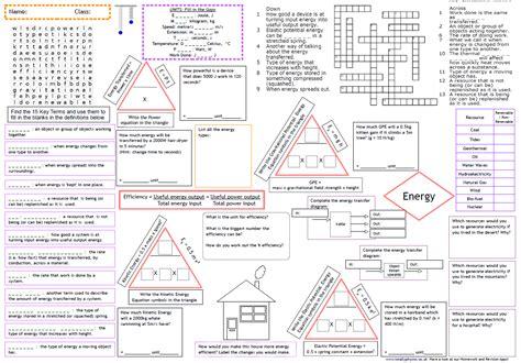 Energy Revision Worksheet  Kidz Activities